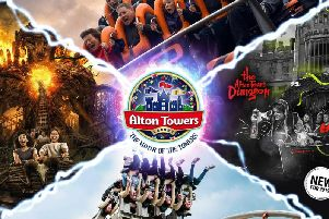 Alton Towers is located near the village of Alton in Staffordshire.