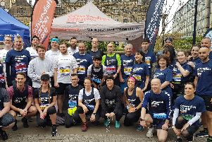 The runners who took part in the Sheffield Half Marathon in memory of Sarah Nulty