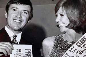 Roy Castle and Cilla Black, who were appearing in Holiday Startime at the ABC Theatre, Blackpool, in July 1969, were ready to do their fair share of poster-sticking after receiving their invitations to Press Night With The Stars - the annual charity dance, organised by Blackpool and Fylde journalists - at the Locarno Ballroom, Blackpool.