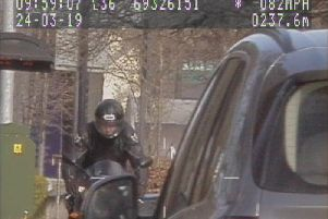 Lee-Roy Campbell was recorded speeding through the 30mph zone on the A61 Leeds Road on a black Yamaha R1 performance motorbike.