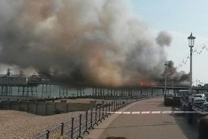 Eastbourne Pier, where a fire broke out with the blaze in 2014 (Picture:Tom Pugh/PA Wire)
