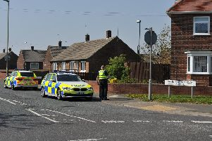 Police on the scene of a suspected car accident in Wenlock Road, South Shields.