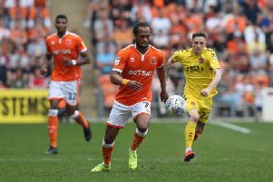 Nathan Delfouneso scored Blackpool's winner against Fleetwood