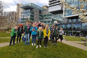Some of the Cub Scouts from Burnley in Manchester