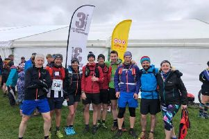 Some of the Trawden runners who set out on the Three Peaks race