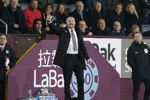 Sean Dyche in the dugout on Boxing Day