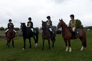The successful Woldgate Equestrian Team.