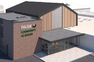 An artist's impression of the proposed new school hall