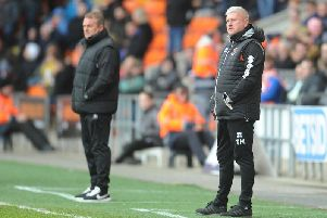 A disappointed Terry McPhillips on the touchline