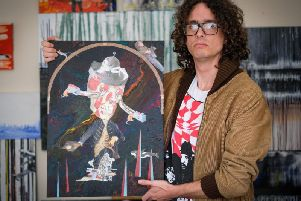 Matthew Jones is holding his first solo exhibition called Art Saved My Life. He began painting after years of struggles with depression, drugs and alcohol