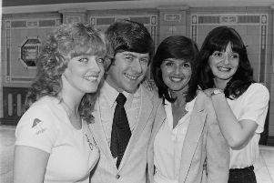 Mike Yarwood and the Nolans at Opera House 24-6-80.JPG