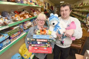 Blackpool Community Homeless Project have moved to premises on Talbot Road.  Volunteers Lyn Hughes and James Hughes.