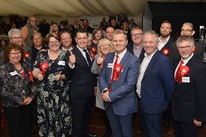 Bassetlaw Election Count 2019, Jack Bowker celebrates his ward win