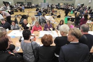 Last week's election count in Blackpool