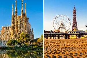 Blackpool is currently basking in bright sunshine and warmer temperatures, with this week set to see the mercury rise to temperatures hotter than those in Barcelona.