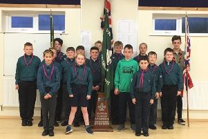 1st Bispham Scout Troop were presented with the President's Flag by assistant district commissioner for the Blackpool Scout Section, Stewart Swan.