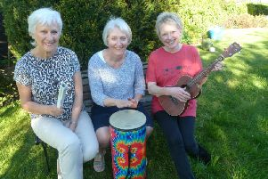 From left: Ali Maze, Janet Wright  and Joy Thornley of Life Long Song