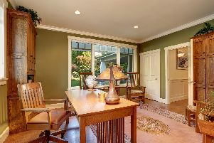 Olive green walls make a room feel warmer, the study found.