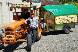 John Elliott with his D22 1957 Renault tractor