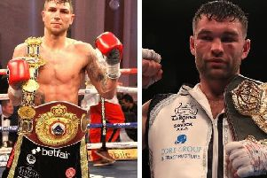 Brian Rose, left, will take on Preston's Scott Fitzgerald in Manchester in July