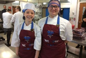 Pupils at Saint Aidan's High School who took part in the Reg Johnson Young Chef Competition.