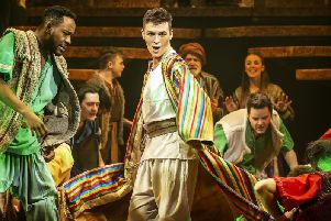 Union J member Jaymi Hensley dons the famous coat for his role in Andrew Lloyd Webber and Tim Rice's Joseph and the Technicolour Dreamcoat
