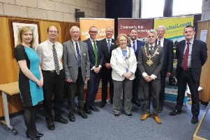 Representatives of some of the organisations involved in the restoration