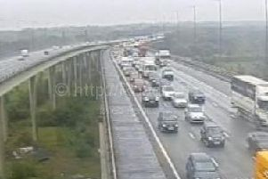 There is heavy traffic on the northbound M6 this morning after a crash near Warrington