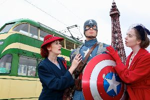 Captain America at Madame Tussauds Blackpool'Picture: Jason Lock