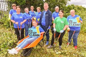 Some of the volunteers from the Lincolnshire Co-op who helped to create the new wildlife area. (PHOTO BY: John Aroin Photography)