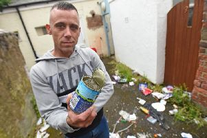 Mark Merriman is fed up of fly-tipping on and around Glenwood Street in Blackpool