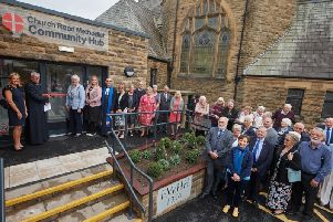 Members of the congregation and invited guests at the opening of the community Hub at the Church Road Methodist Church in St Annes