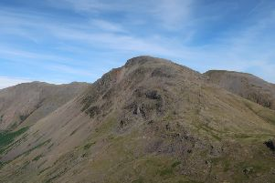 Scafell Pike, the highest of the Wainwrights Peaks
