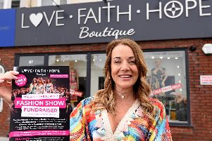 Samantha Byrom outside Love Faith Hope Boutique in Bispham