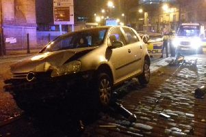 Scene of the crash in Halifax (picture by Calderdale Council's Community Safety & Resilience Team)