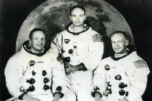 The US astronauts who took part in the Apollo 11 mission to the moon -  Neil Armstrong, Michael Collins and Edwin 'Buzz' Aldrin.