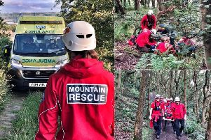 The Calder Valley Search and Rescue team during the callout to Elland (Pictures CVSRT)