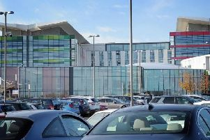 The car park at King's Mill Hospital