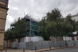 Wakefield's old crown court building is in the process of being renovated.