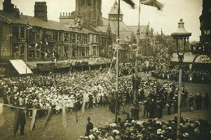 Blackpool's Peace Day celebrations in 1919