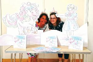 SJ Dawson, author of Rainbow Dust, with illustrator Becky Stout
