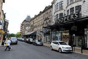 Campaign to support independent business - One of Harrogate's prime retail streets, James Street.