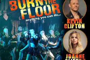 Kevin and Joanne Clifton star in Burn the Floor at the Baths Hall next year.