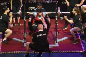 Fifty athletes competed in Blackpool