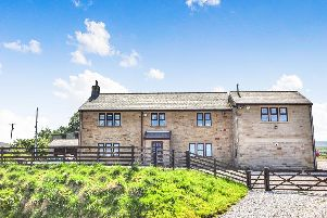 This modern Burnley farmhouse was built in 1994.