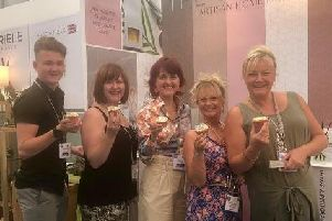 The Wax House and Pink Link Supporters at the Harrogate Home and Gift Fair
