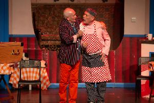 TV heavyweights Tommy Cannon and Billy Pearce are starring in Leah Bell and Crissy Rock's farce, Right Place Wrong Time, at the Burnley Mechanics.