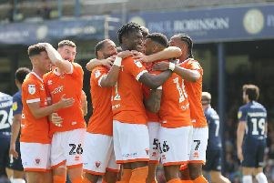 Blackpool eased to three points in their first away trip of the season