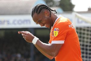 Nathan Delfouneso was a two-goal hero for Blackpool