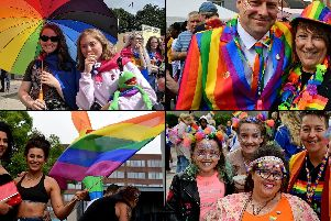 Hundreds of people joined the parade at Wakefield Pride this weekend